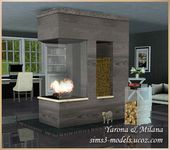 Modern Fireplace by Yaroma & Milana at Sims 3 Models