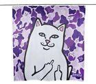 New Rip N Dip Ripndip Lord Nermal Cat Shower Curtain With C Hooks