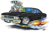 Classic Car 1966 Chevelle Flashback Wall Decal, Car Photo Decal, Man Cave Decor, Fathers Day Gift, B