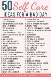 50 Self Care Ideen für einen schlechten Tag – mental health