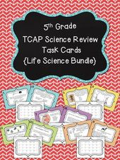 TN TCAP 5th Grade Science Task Cards ~ Life Science Bundle