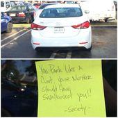 Funny Meme Looks Like Society Doesn T Like Double Parking Bad Parking Bad Parking Notes Bad Drivers