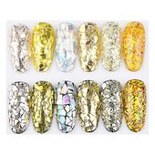 Silver Gold Holographic Flakes (6 pots)   – Make – Resin – Embeds