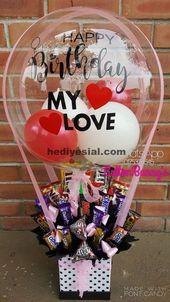 einfaches Basteln für den Tag der Liebe und der Freundschaft mit Luftballons