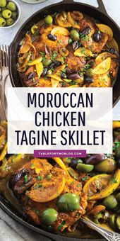 The incredible flavors of Moroccan cuisine embody this Moroccan chicken tagine s…