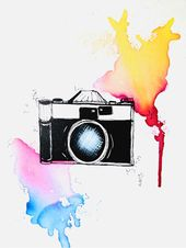 Art-Print, Druck, Kunst, Illustration, magnet, fridge, decor, print, cute, watercolour, stilwald, wall art poster, home, photo, camera