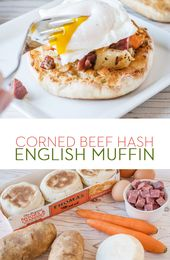 Thomas' Corned Beef Hash English Muffin