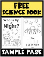 """This FREE science book introduces young children to nocturnal animals and invites them to """"build"""" th…"""