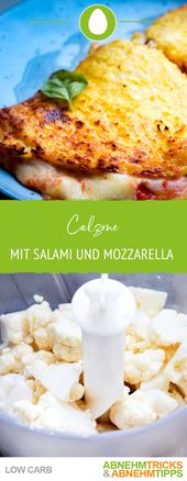 Low Carb Calzone mit Salami und Mozzarella – Eierspeisen Low Carb