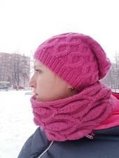 (notitle) – Knitting Knitted cowl and scarf Knitted beanie
