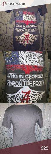 Living In Georgia With Crimson Tide Roots Size M With Images Crimson Tide Next Level Apparel