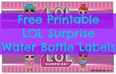 Decorate bottled drinks at your LOL Surprise themed party with these free printa… – Birthday party's