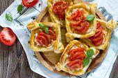 Pâte feuilletée aux tomates et chèvre – La Recette   – Recette
