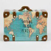 Wie cool! Spardose als Koffer mit Weltkarten Motiv #atlas #globus #affiliate #ve… – SELBERMACHEN