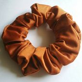 Copper lycra scrunchie, scrunchies for women, scrunchy, scrunchies for ponytails/buns, cheerdealers,