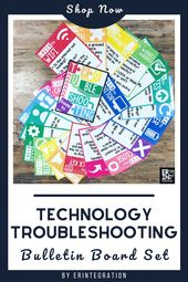 Amazon.com: Technology Troubleshooting Bulletin Board Set and Activity – 33 Posters – 2 Styles (Edit