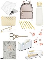 Unique Back to School Supplies in Marble & Gold – Opis Flores