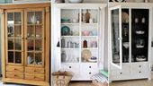 Möbel streichen » Von Eiche Rustikal zu Schwarz-Weiß