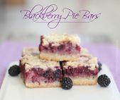 Blackberry Pie Bars – all das tolle Aroma ohne viel Aufhebens!   – Yummies