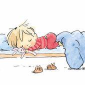 Baby Ilustration Sleepy Head Print — Jane Massey