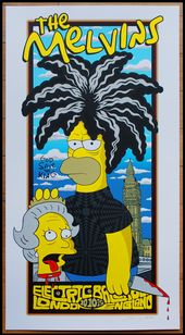 Adam Pobiak Melvins Simpsons Poster London aka Worst Poster Ever