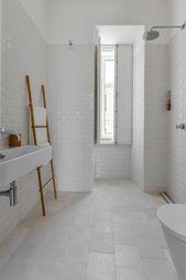 Elegant Historical Apartment Renovation In Lisbon Witte Badkamer Badkamer Inspiratie Badkamer
