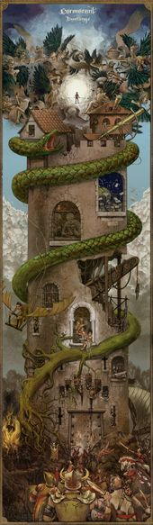 """Alice Duke. Art commissioned by the band Cormorant for their album """"Dwellings."""""""