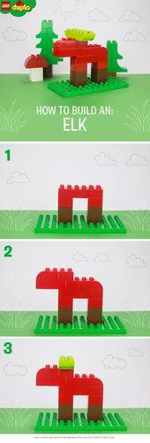 Wie baue ich einen LEGO DUPLO Elch?   – Lego Duplo Anleitungen