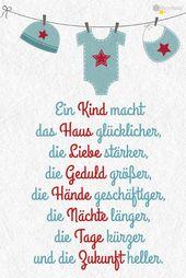 Baby Cards #Geburt #Baby #Sprüche #Grußkarten Diesen und viele weitere niedliche Grüße ...