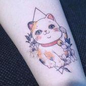 Kawaii Cat Tattoo Sticker – Tattoo – #Cat #kawaii #sticker #tattoo   – Kitten!!