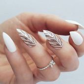 54 Unique and Beautiful Nail Designs To Try Now; Stiletto Nail Designs;3D nail a…