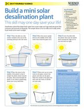 Make your own solar desalination plant** could also use to produce clean drinking water from dirty w…