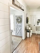 Cheap and Easy Hallway Planked Wall Tutorial