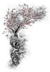 #MensSleeveTattoo #SleeveTattoos Cherry Blossom Tree mit versteckten Designs Incorpora … –  #MensSleeveTattoo #SleeveTattoos Kirschblütenbaum mit v…
