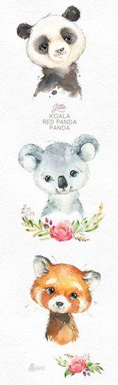Baby Ilustration 66 Ideas Baby Animals Ilustration Watercolour