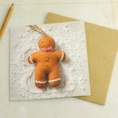 Corinne Lapierre Lebkuchenmann Weihnachtskarte
