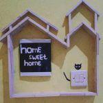 Dekorasi Sakelar Lampu Rumah Hasil Kerajinan Stik Es Krim Ide
