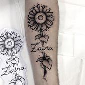 Sonnenblume entwickelt und tätowiert von mir auf @luscadofusca Danke für das Vertrauen …