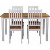 Sitzbereich im Landhaus aus weißem Massivholz (5 Teile) TopdesignTopdesign   – Products