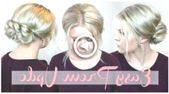 Elegant and easy zipper through the braid Updo Prom & Wedding hairstyle… #FrisurenfrdenAbschlussball #coiffure #Elegante #fcile