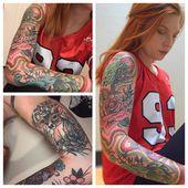 Mein Regenbogenärmel von Doug Hollis bei Oxford Tattoo in Oxford MS. Ich muss nur tun …