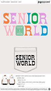 Salem Academy Senior Day Shirt #retro #letters #senior #world #colorful