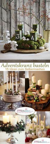 Bastelideen – Weihnachtskranz basteln im Vorfeld von Weihnachten   – Advent