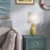 Bay Isle House Salina Pineapple 18″ Desk Lamp | Wayfair