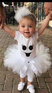 Baby Girl Ghost Kostüm – Ghost Tutu Outfit – Baby Girl Halloween Kostüm – kostenloser Versand   – Leannas erstes Halloween