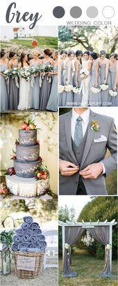 30 + graue Hochzeitsfarben-Ideen, die Sie lieben werden