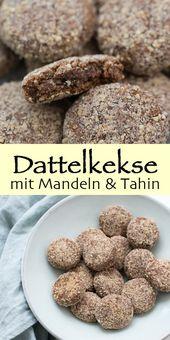 Dieses Rezept für Dattelkekse mit Mandeln ist für alle Fans von leckeren zucke
