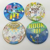 4 buchen Sie es Button viel Vintage Pizza Hut Schule Leseprogramm Star Award Pinback …