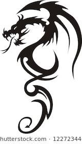 Tattoo Dragon Vector Illustration,  #Dragon #Illustration #tattoo #tribaldragontattooblack #v…