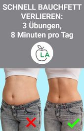 Bauchfett verlieren – 3 Übungen, 8 Minuten pro Tag   – Fitness / Sport / abnehmen